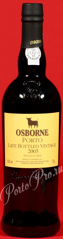 Osborne Late Bottled Vintage 2005, Портвейн Осборн Лэйт Ботлд Винтаж 2005